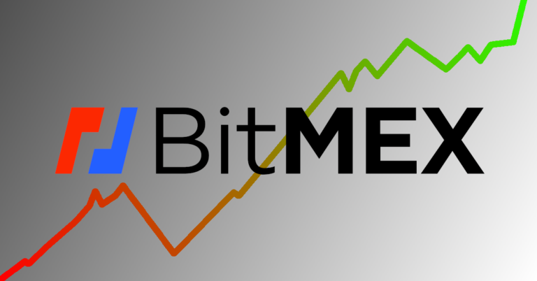 bitmex exchange logo green and red chart background