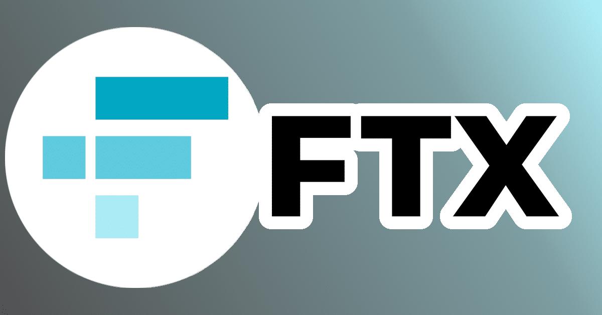 FTX exchange logo with minimal colors