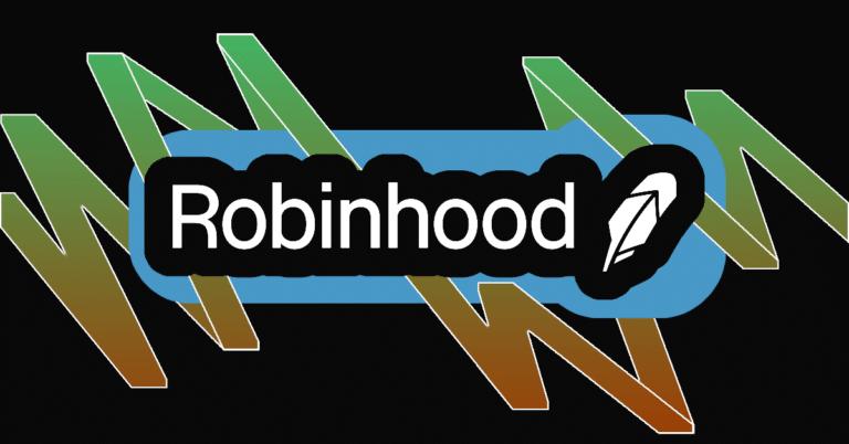 Robinhood logo with designed background