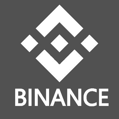Grey and square Binance logo.