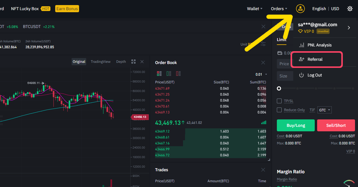 How to sign up for Binance Futures referral ID code step 3