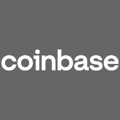 Grey and square Coinbase logo.