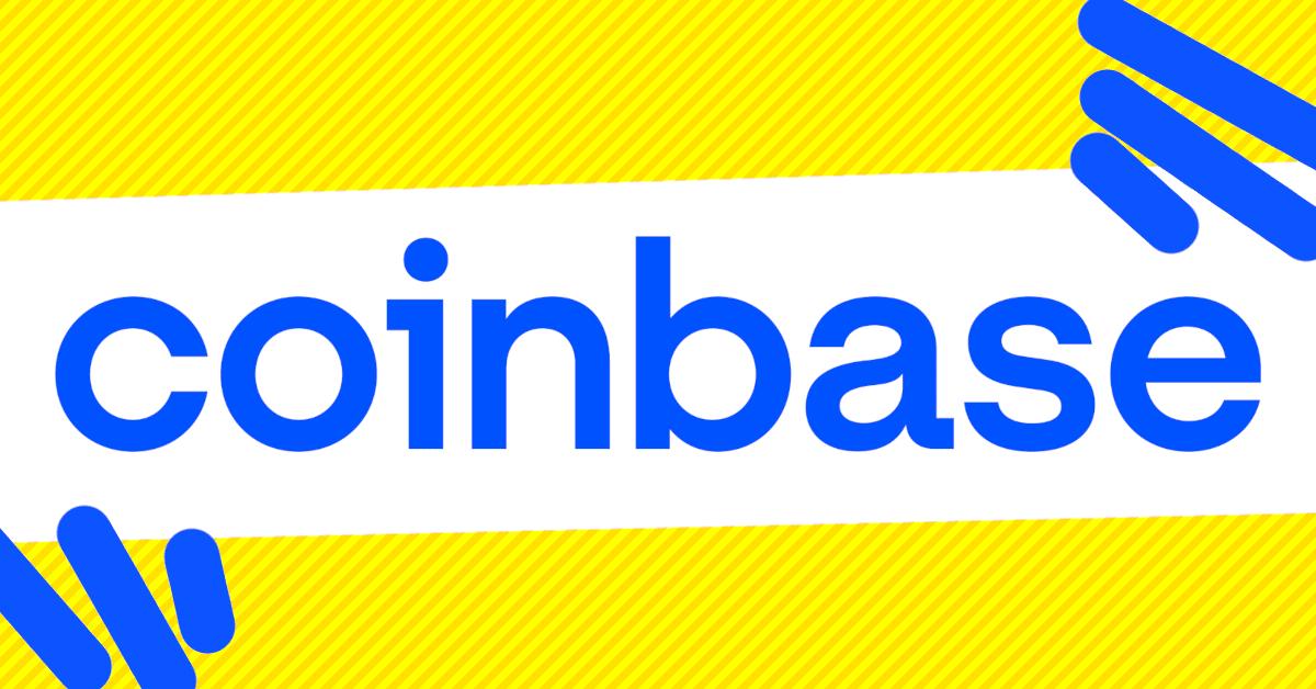 Coinbase logo with graphics